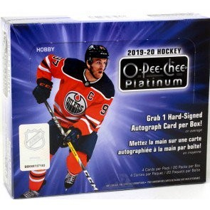 2019/20 O-Pee-Chee Platinum Hockey Hobby 8 Box Case
