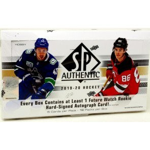 2019/20 Upper Deck SP Authentic Hockey Hobby 16 Box Case