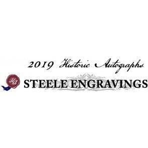 2019 Historic Autographs Steele Engravings Baseball 10 Box Case