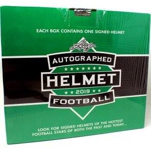 2019 Leaf Autographed Full Sized Helmet Football Box