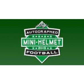 2019 Leaf Autographed Mini Helmet Football 10 Box Case