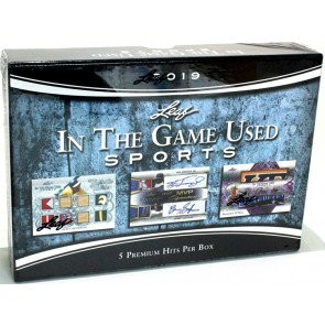2019 Leaf In The Game (ITG) Game Used Sports Box