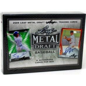 2019 Leaf Metal Draft Baseball Hobby 12 Box Case