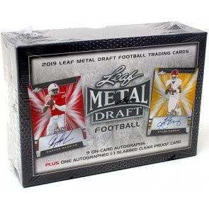 2019 Leaf Metal Draft Football Jumbo Box