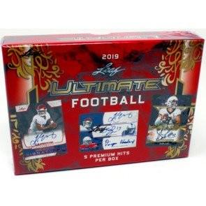 2019 Leaf Ultimate Draft Football Hobby 10 Box Case