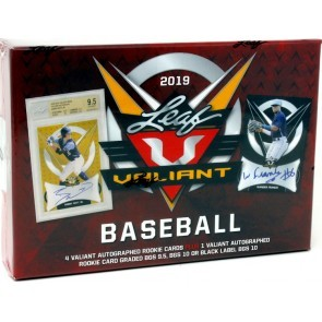 2019 Leaf Valiant Baseball Hobby 12 Box Case