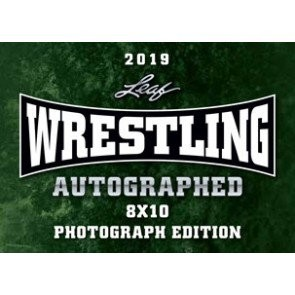 2019 Leaf Wrestling Signed 8x10 Photograph Ed 12 Box Case