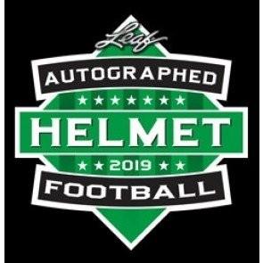 2019 Leaf Autographed Full Sized Helmet Football 3 Box Case