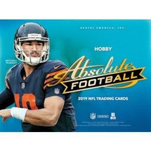 2019 Panini Absolute Football Hobby 12 Box Case