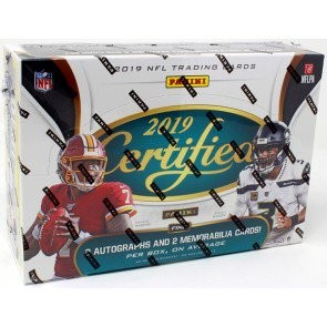 2019 Panini Certified Football Hobby 12 Box Case