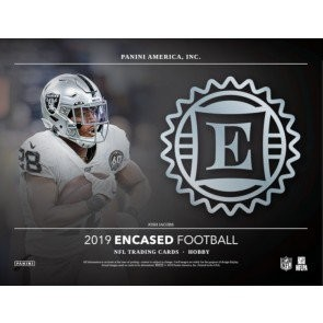 2019 Panini Encased Football Hobby 8 Box Case