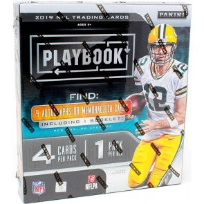 2019 Panini Playbook Football Hobby 16 Box Case