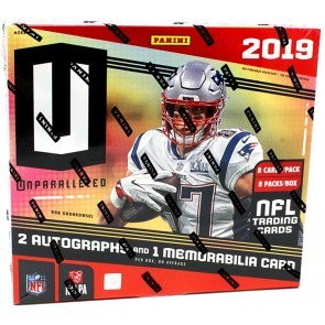 2019 Panini Unparalleled Football Hobby 8 Box Case