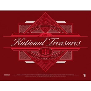 2019 Panini National Treasures Baseball Hobby 4 Box Case