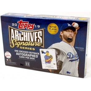 2019 Topps Archives Signature Series Baseball 20 Box Case