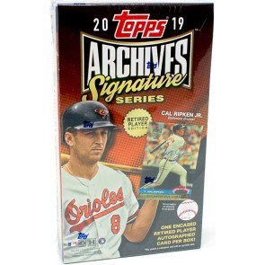 2019 Topps Archives Signature Series Retired Player Ed Baseball Box