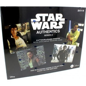 2019 Topps Star Wars Authentics Series 2 Autographed Photo & Trading Card Box