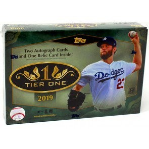 2019 Topps Tier One Baseball Hobby 12 Box Case