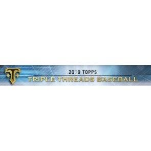 2019 Topps Triple Threads Baseball Hobby 18 Box Case
