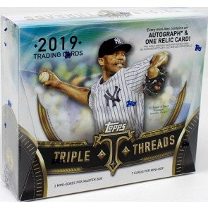 2019 Topps Triple Threads Baseball Hobby 9 Box Case