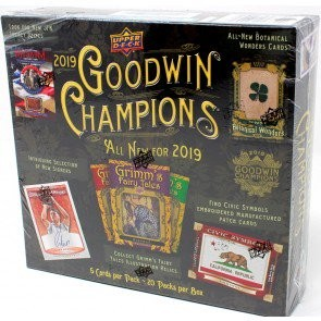 2019 Upper Deck Goodwin Champions Hobby 8 Box Case