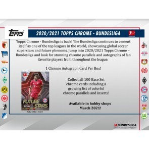 2020/21 Topps Chrome Bundesliga Soccer Hobby 12 Box Case