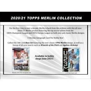 2020/21 Topps Merlin Chrome Soccer Hobby 12 Box Case