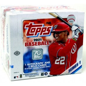 2021 Topps Series 1 Baseball Jumbo 6 Box Case