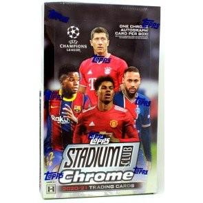 2020/21 Topps UEFA Champions League Stadium Club Chrome Soccer Hobby Box