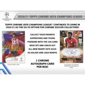 2020/21 Topps UEFA Champions League Chrome Soccer Hobby 12 Box Case