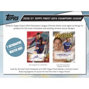 2020/21 Topps Finest UEFA Champions League Soccer Hobby 8 Box Case