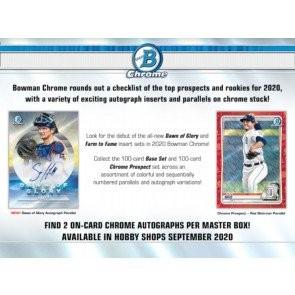 2020 Bowman Chrome Baseball Hobby 12 Box Case