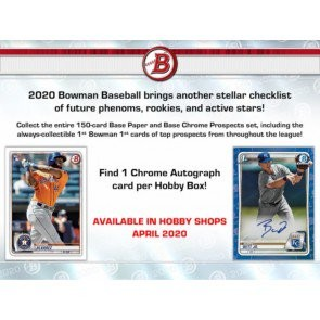 2020 Bowman Baseball Hobby Box