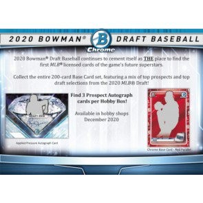 2020 Bowman Draft Baseball Jumbo 8 Box Case