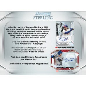 2020 Bowman Sterling Baseball Hobby 12 Box Case