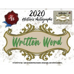 2020 Historic Autographs Written Word Baseball 20 Box Case
