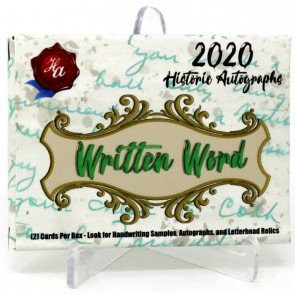 2020 Historic Autographs Written Word Baseball Box