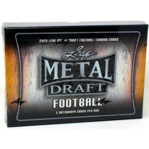 2020 Leaf Metal Draft Football Hobby 14 Box Case