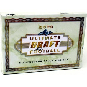 2020 Leaf Ultimate Draft Football Hobby 10 Box Case