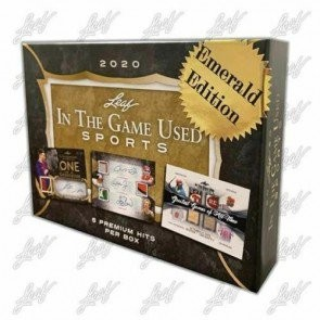 2020 Leaf In The Game (ITG) Game Used Sports Emerald Edition Box