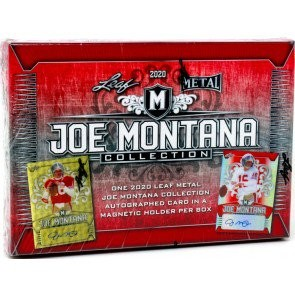 2020 Leaf Metal Joe Montana Collection Football Hobby 10 Box Case