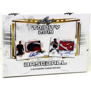 2019 Leaf Trinity Baseball Hobby 12 Box Case