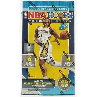 2019/20 Panini NBA Hoops Premium Stock Basketball Hobby Hybrid 20 Box Case