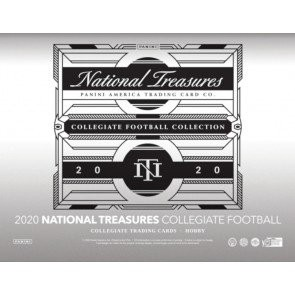 2020 Panini National Treasures College Football Hobby 4 Box Case