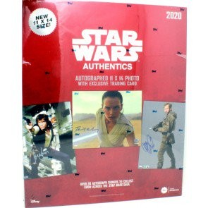 2020 Topps Star Wars Authentics Autographed Photo & Trading Card 12 Box Case