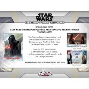 2020 Topps Star Wars Chrome Perspectives: Resistance Vs The First Order 12 Box Case