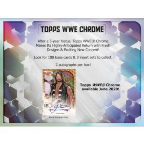 2020 Topps WWE Chrome Wrestling Hobby 8 Box Case