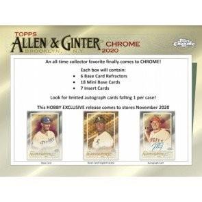 2020 Topps Allen & Ginter Chrome Baseball Hobby Box