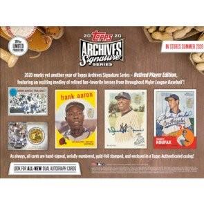 2020 Topps Archives Signature Series Retired Player Ed Baseball Box