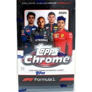 2020 Topps Chrome Formula 1 Racing Hobby 12 Box Case